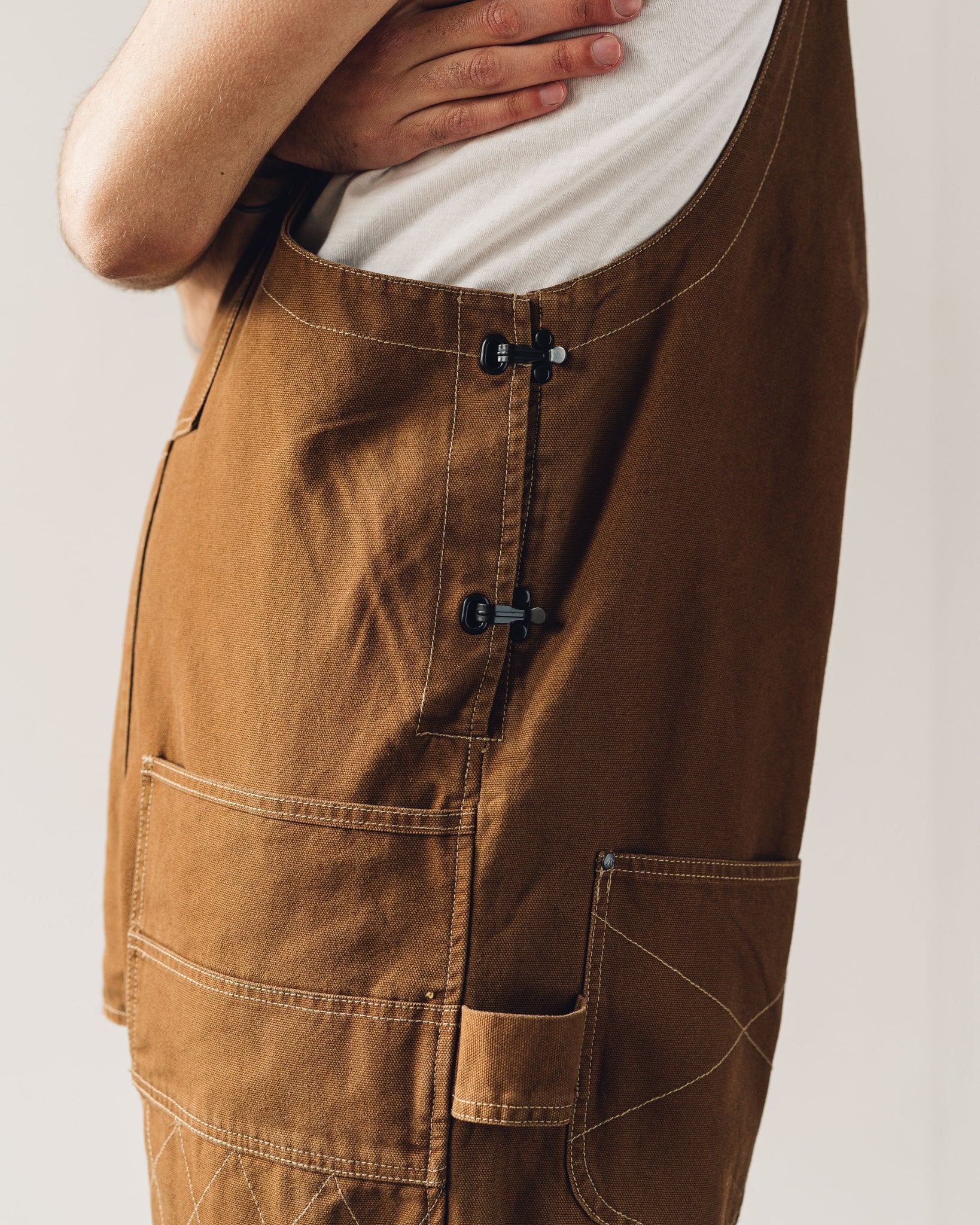 Nigel Cabourn Carpenter Dungaree, Clay