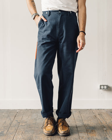 Nigel Cabourn Welders Pant, Black Navy Contrast Pocket