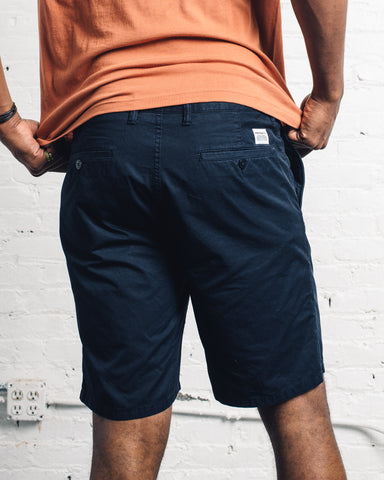 Norse Projects Aros Light Twill Shorts, Dark Navy