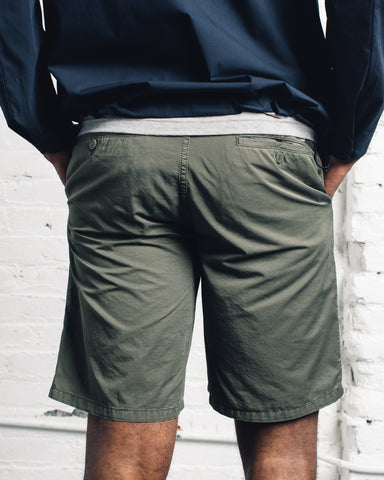 Norse Projects Aros Light Twill Shorts, Dried Olive