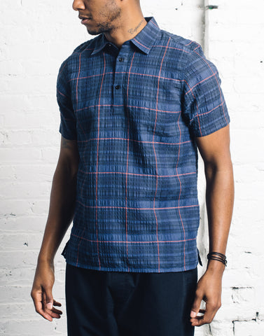 Norse Projects Theo Textured Check, Navy