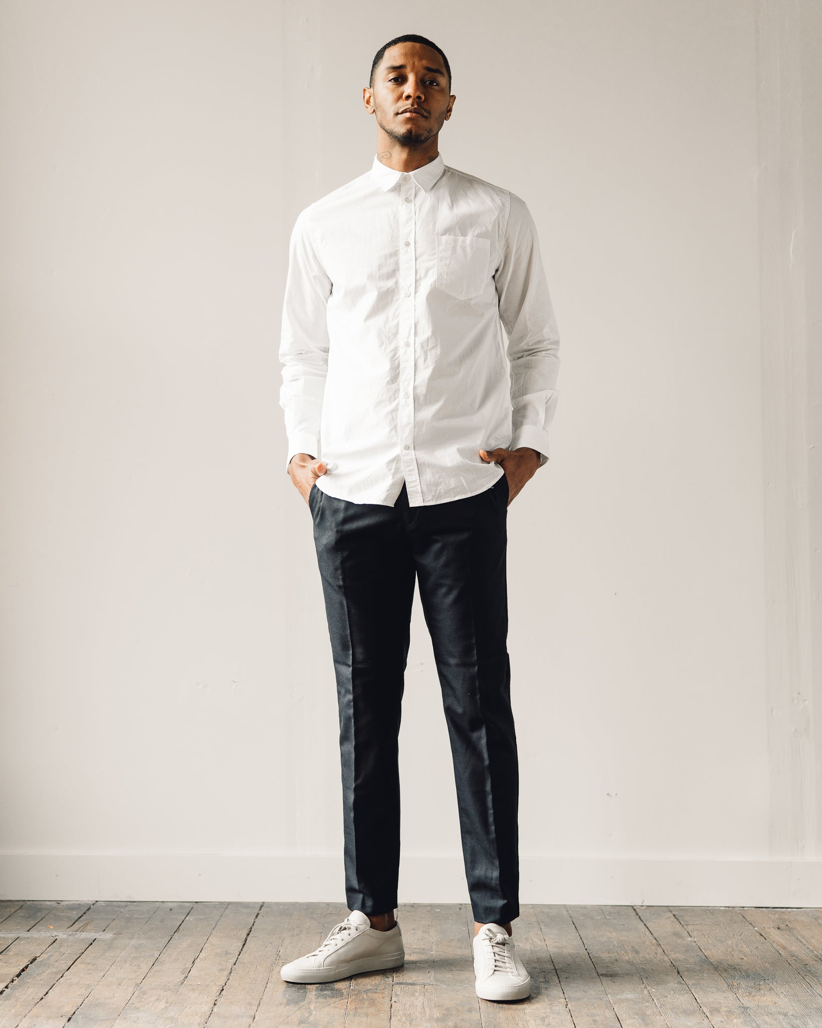 Norse Projects Anton Classic Poplin, White