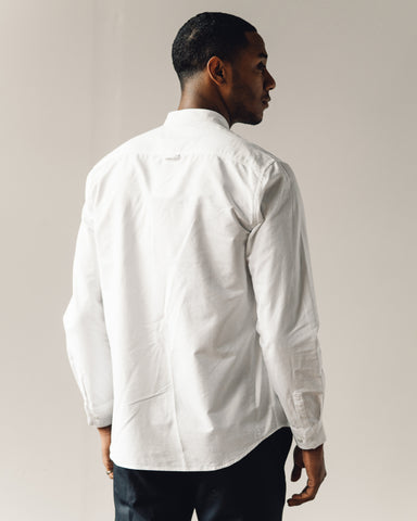 Norse Projects Hans Collarless Oxford, White