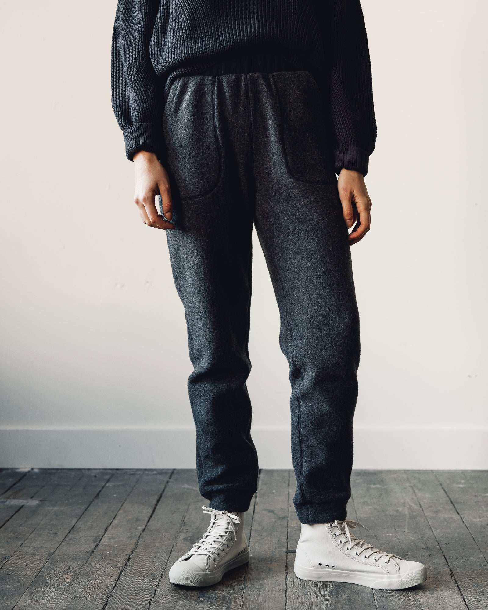 Norse Projects Karina Wool Fleece Pant, Charcoal