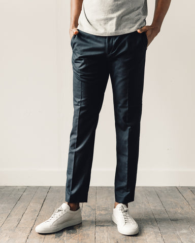 Norse Projects Luther Technical Wool Pant, Navy