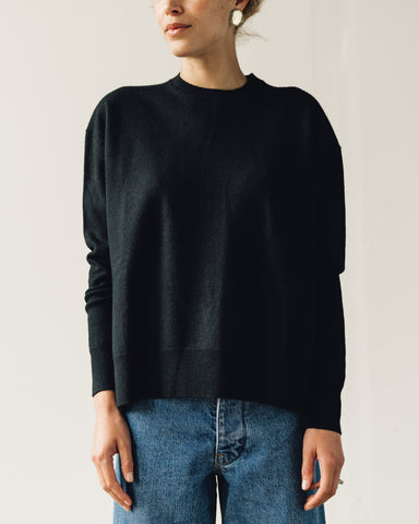 Norse Projects Olena Boiled Wool Sweater, Black