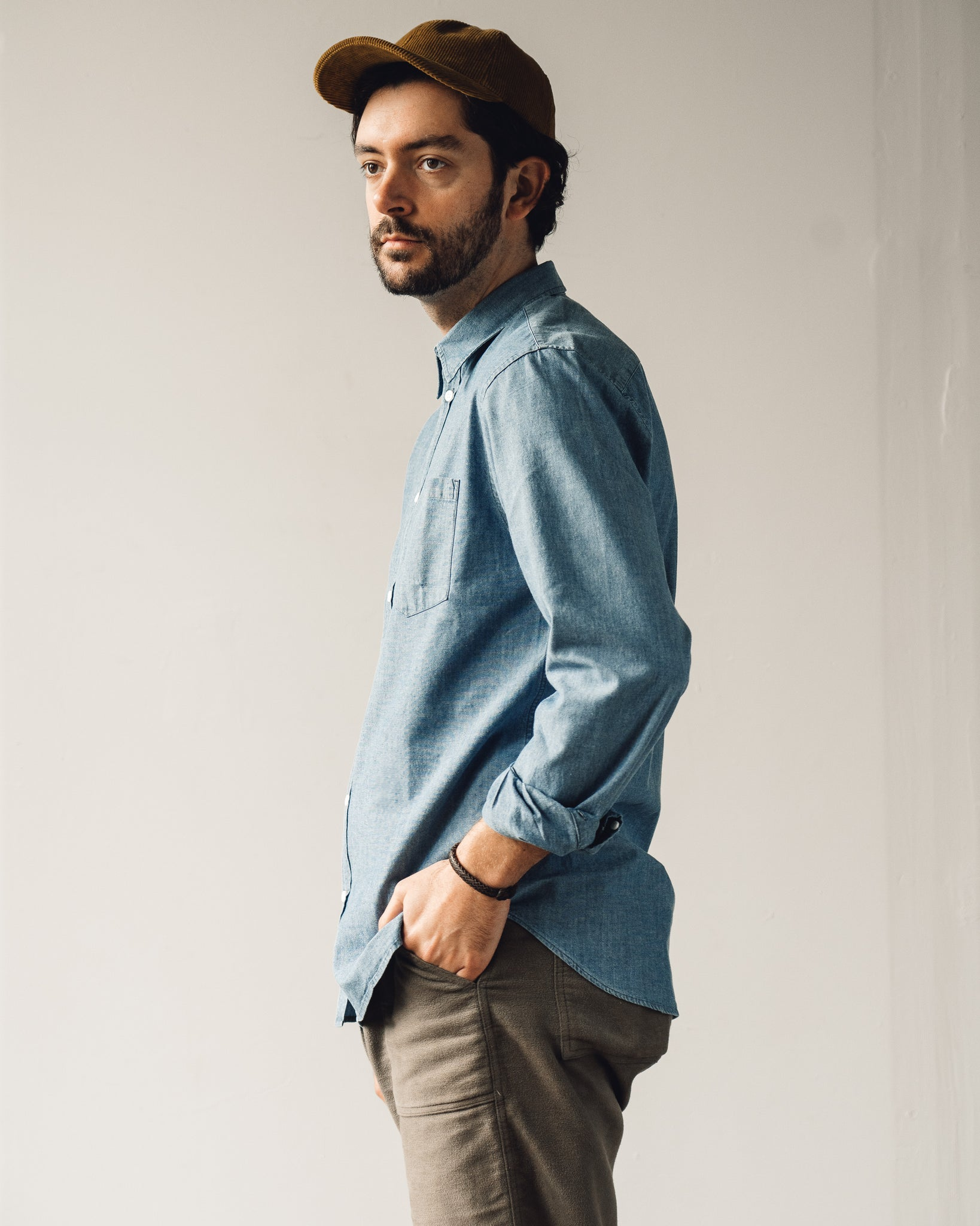 Norse Projects Osvald Chambray Shirt, Indigo