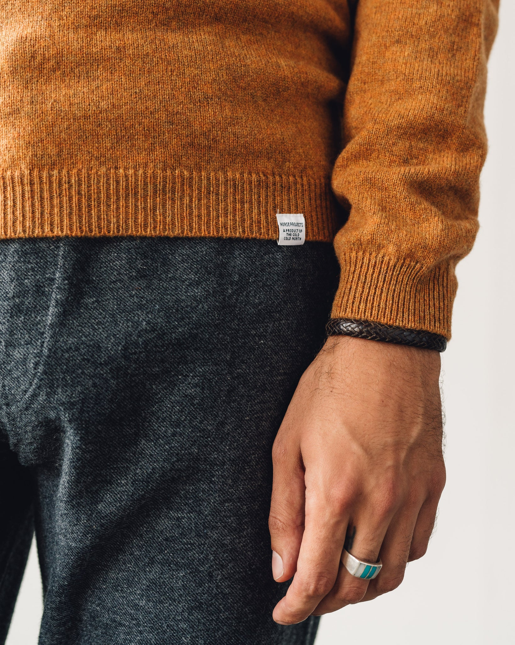 Norse Projects Sigfred Lambswool Sweater, Montpellier Yellow