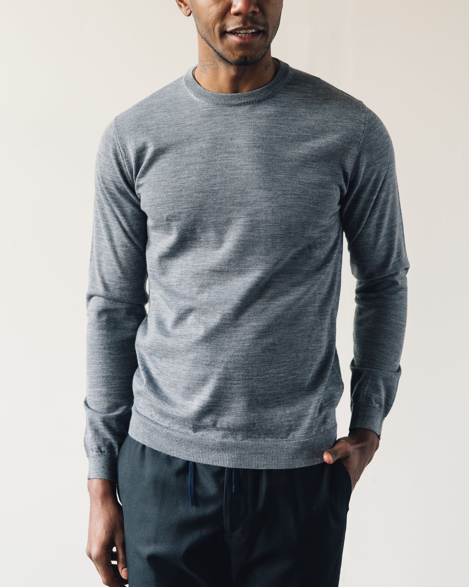 Norse Projects Sigfred Light Merino, Charcoal
