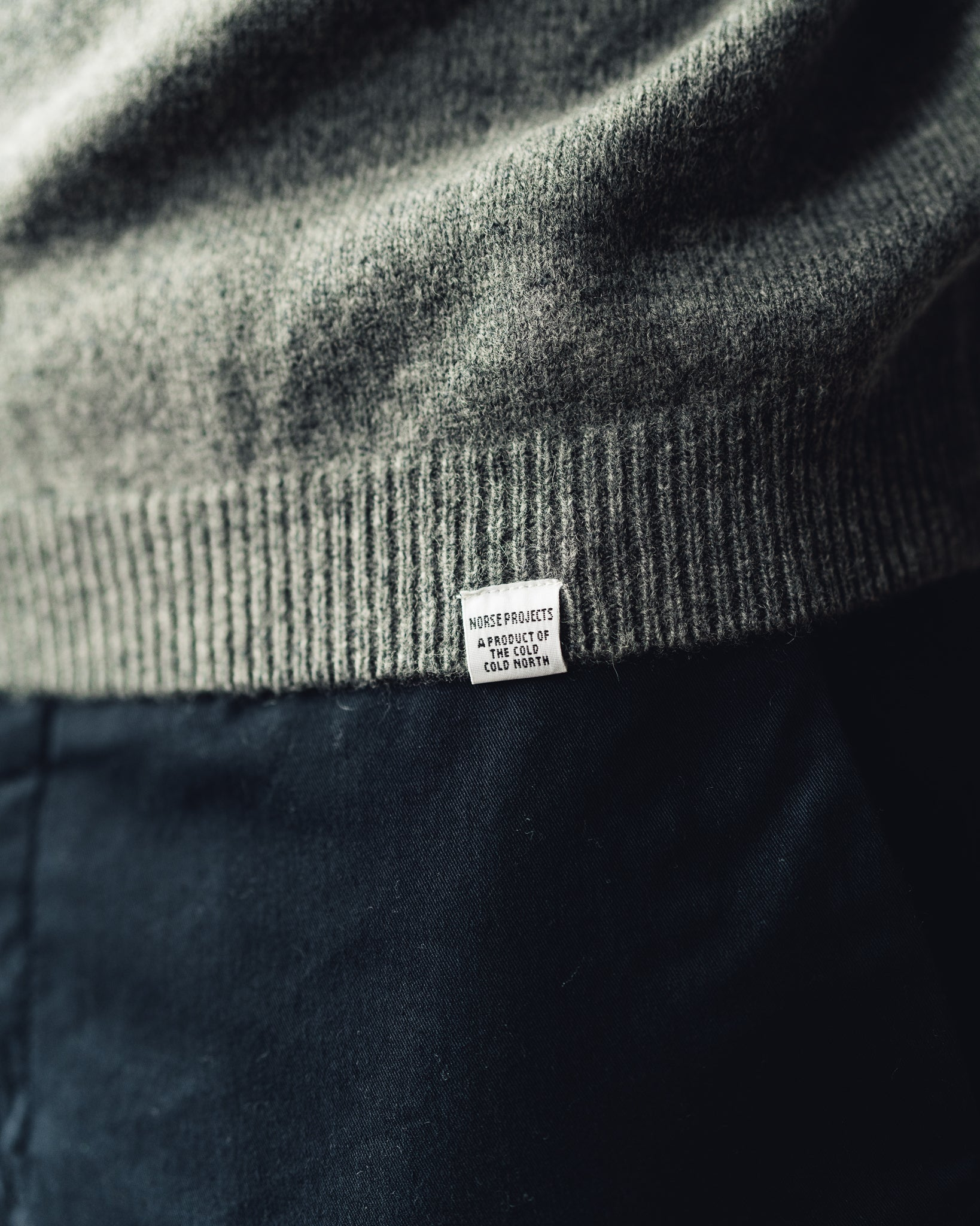 Norse Projects Sigfred Lambswool, Light Grey Melange