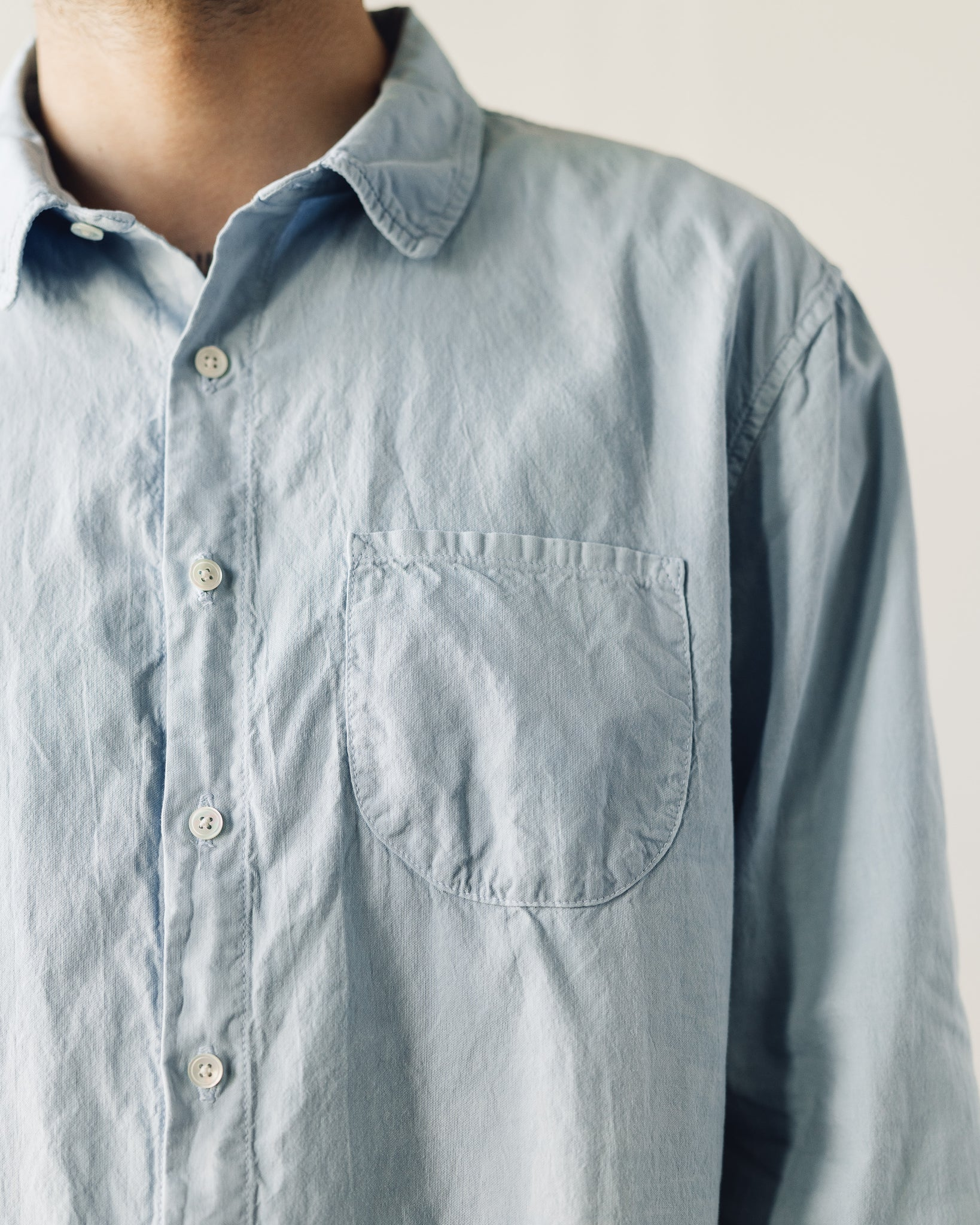 Older Brother Classic Shirt, Light Indigo
