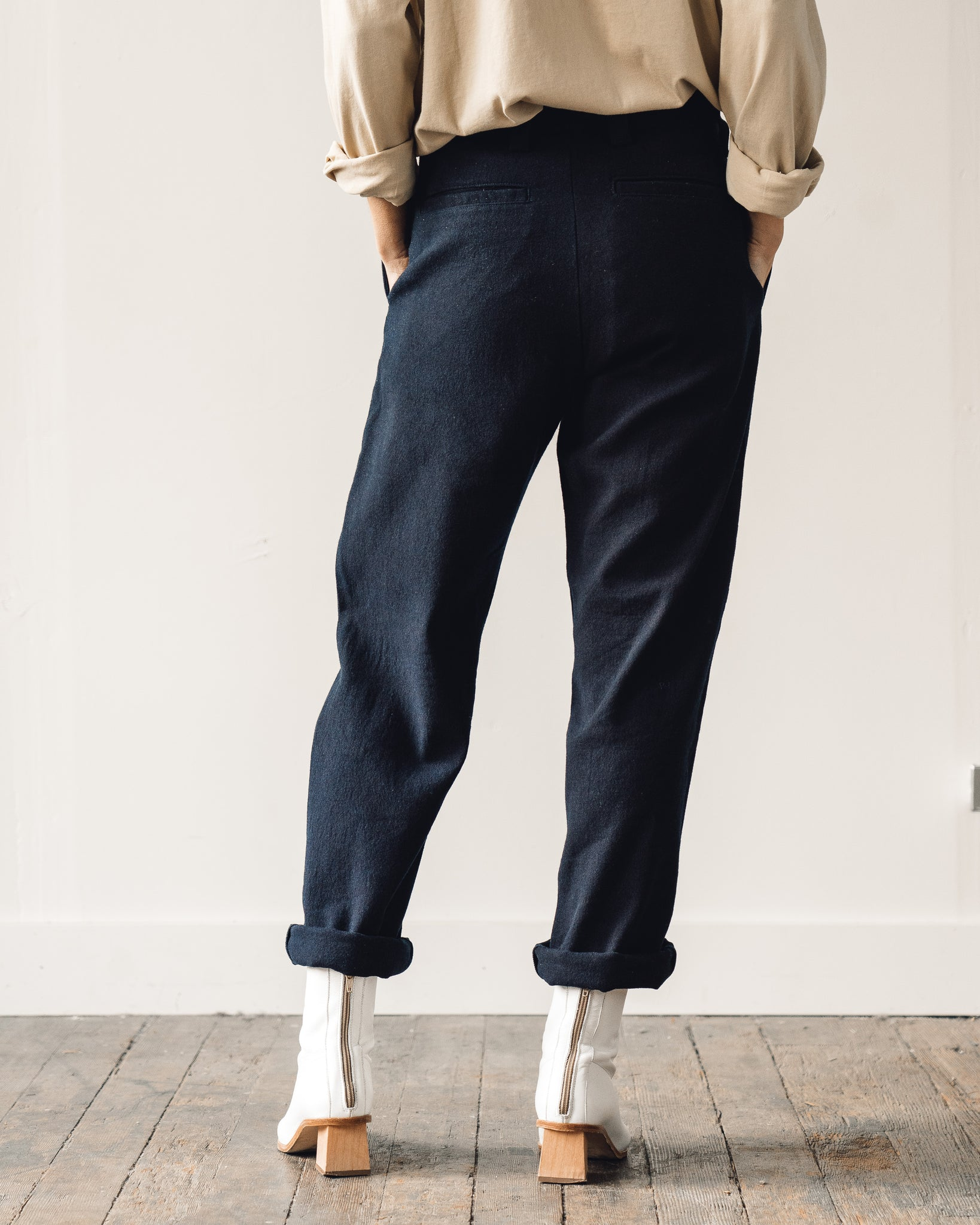 Olderbrother Washi Wool Pants, Dark Indigo