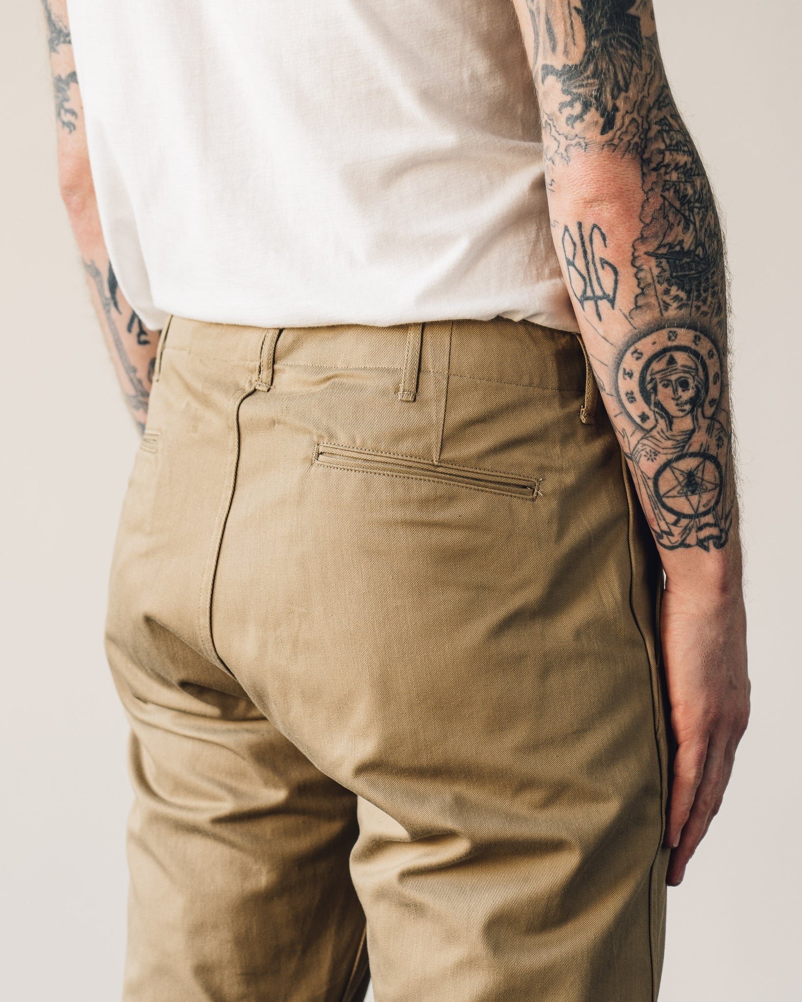 Orslow Slim Fit Army Trouser, Khaki