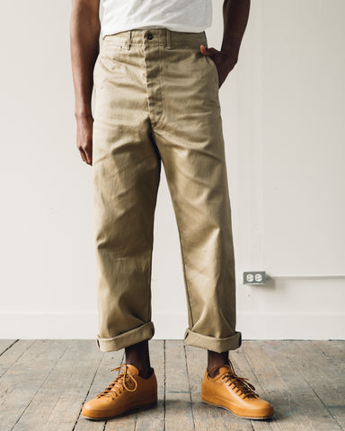 Orslow Vintage Fit Army Trousers, Khaki