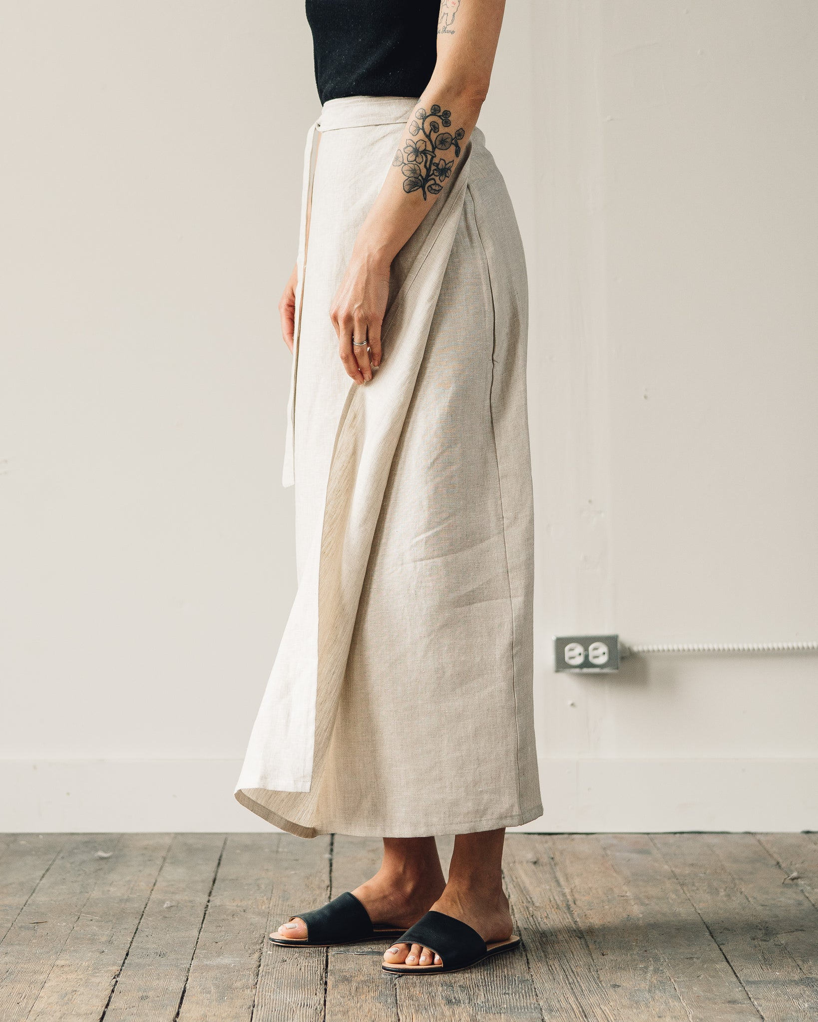 Ozma Venice Wrap Skirt, Raw