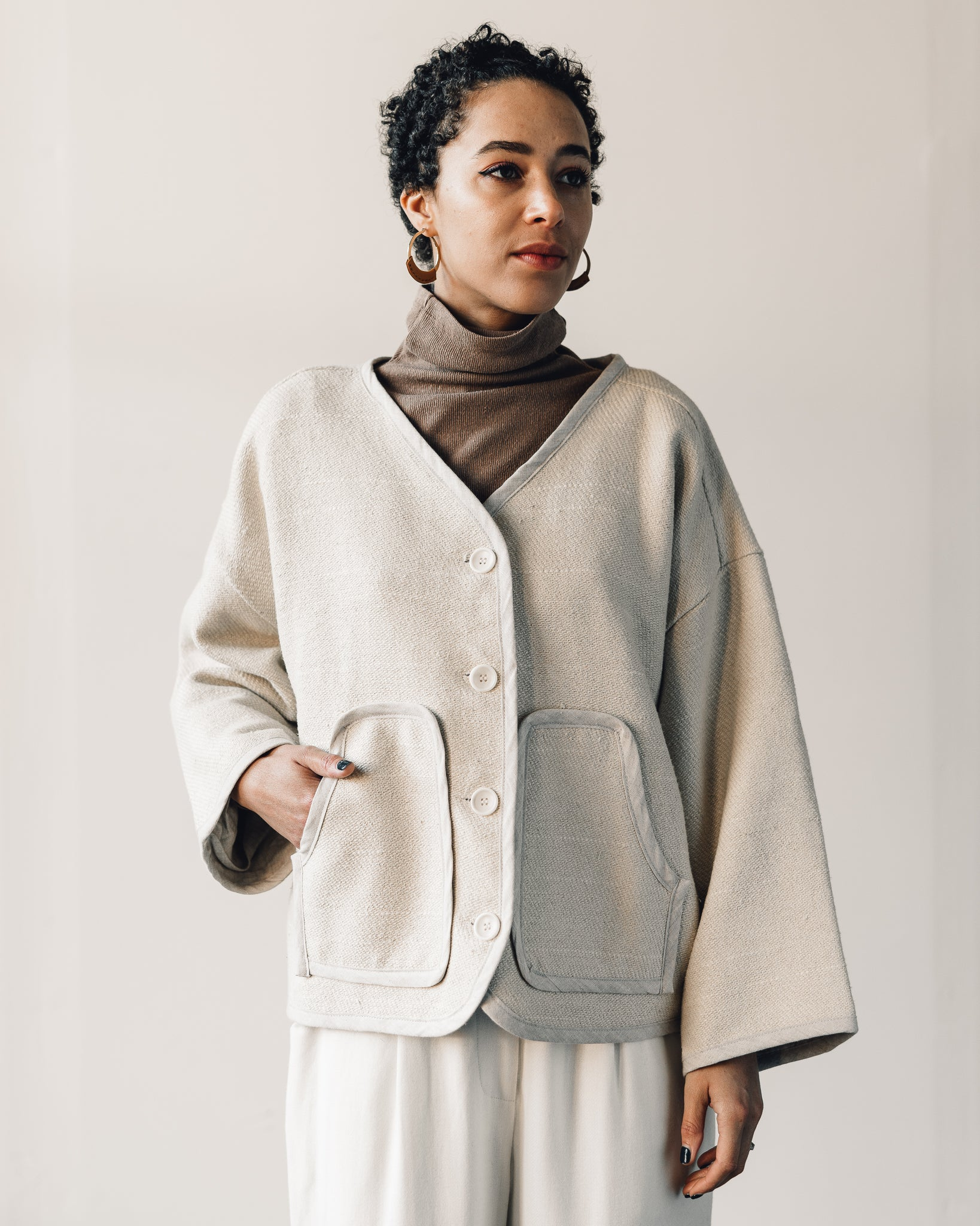 Ozma Wolfe Coat, Natural
