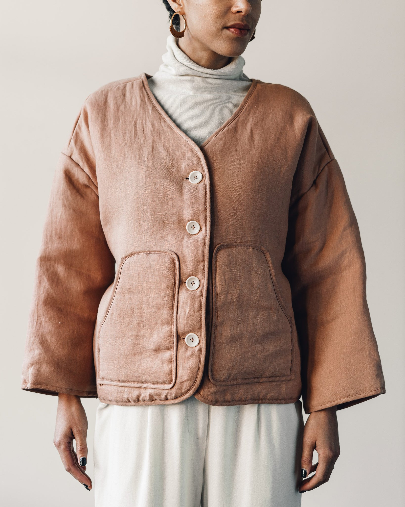 Ozma Wolfe Coat, Rose