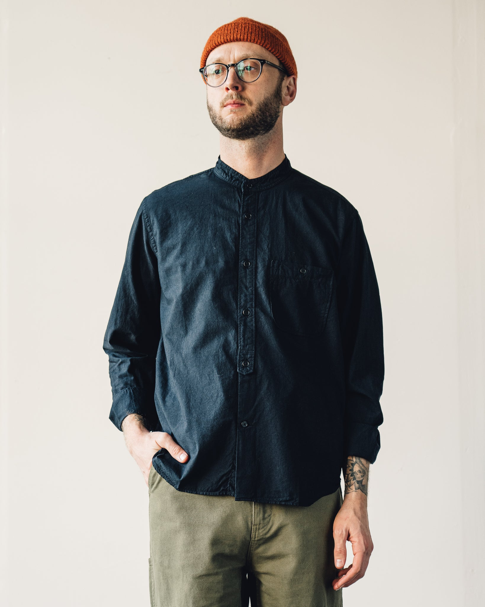 Snow Peak Stand Collar Shirt