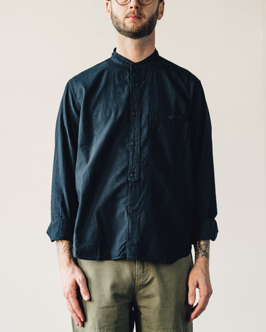 Snow Peak Stand Collar Shirt, Black