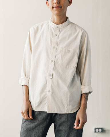 Snow Peak Stand Collar Shirt, Natural