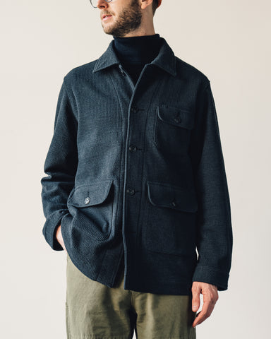 Snow Peak Takibi Knit Jacket, Black/Blue