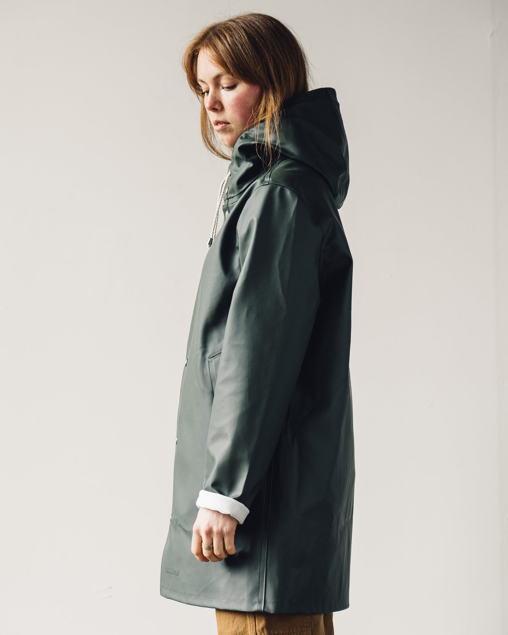 Stutterheim Stockholm Raincoat, Green