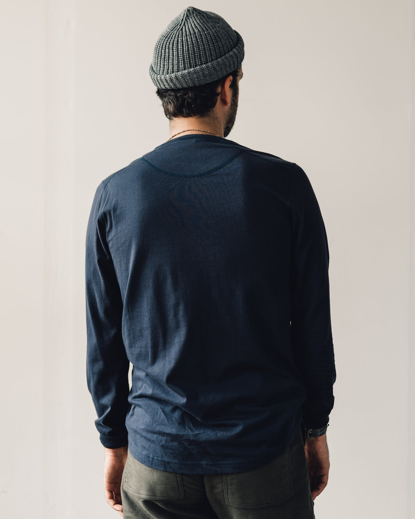 Universal Works LS Eaton Shirt, Navy