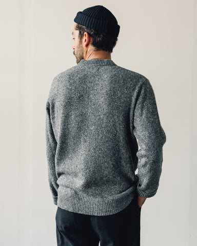 Universal Works Loose Wool Crew, Grey