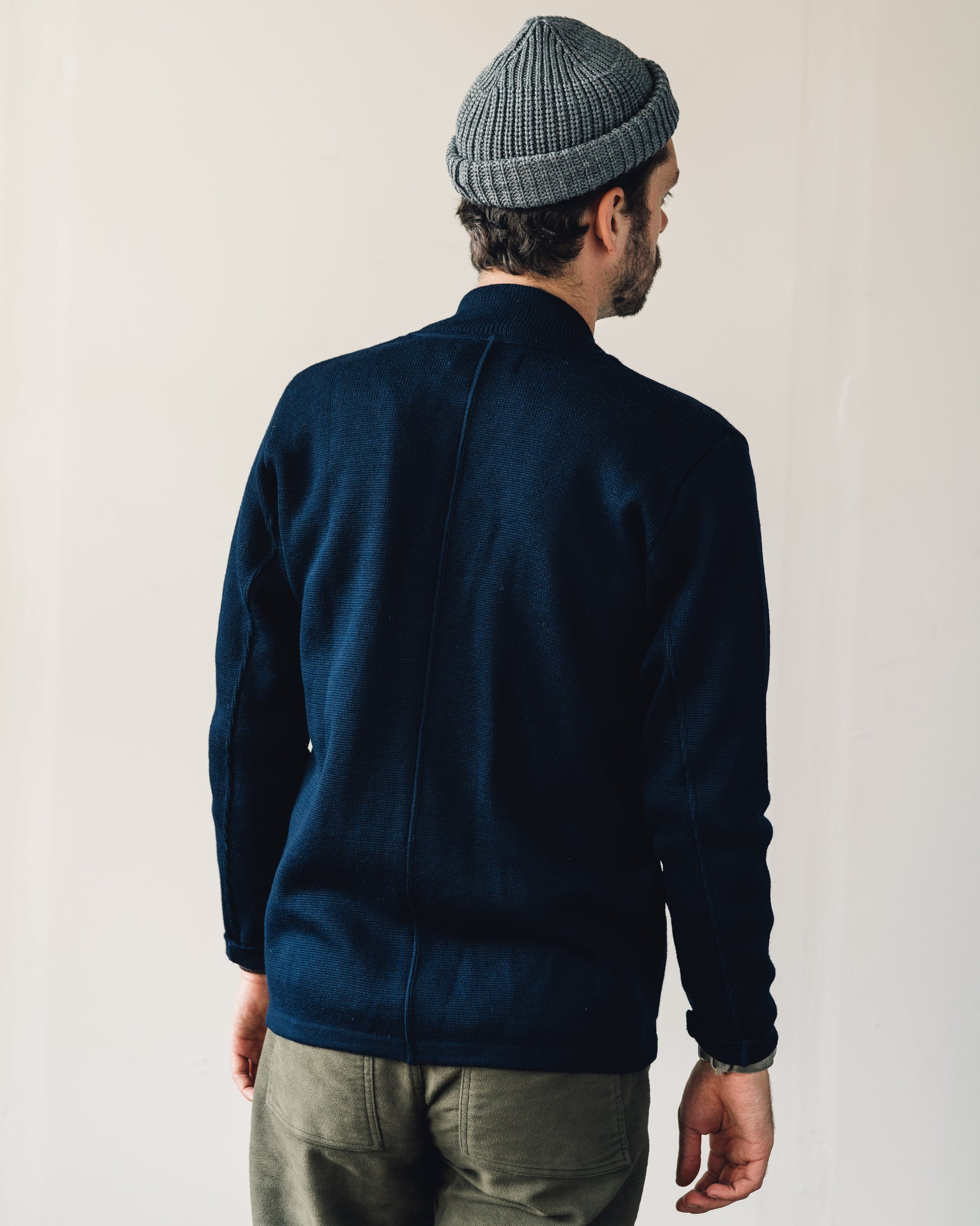 Universal Works Merino Knit Work Jacket, Navy
