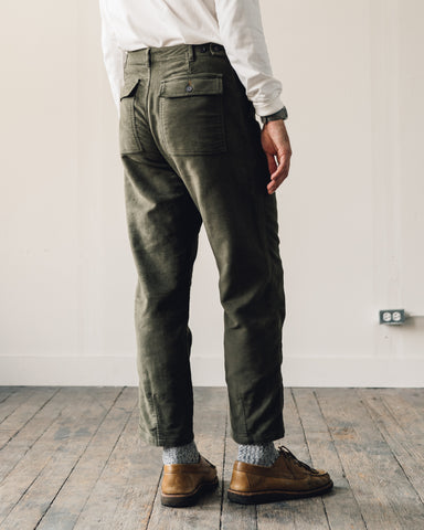 Universal Works Moleskin Fatigue Pant, Moss