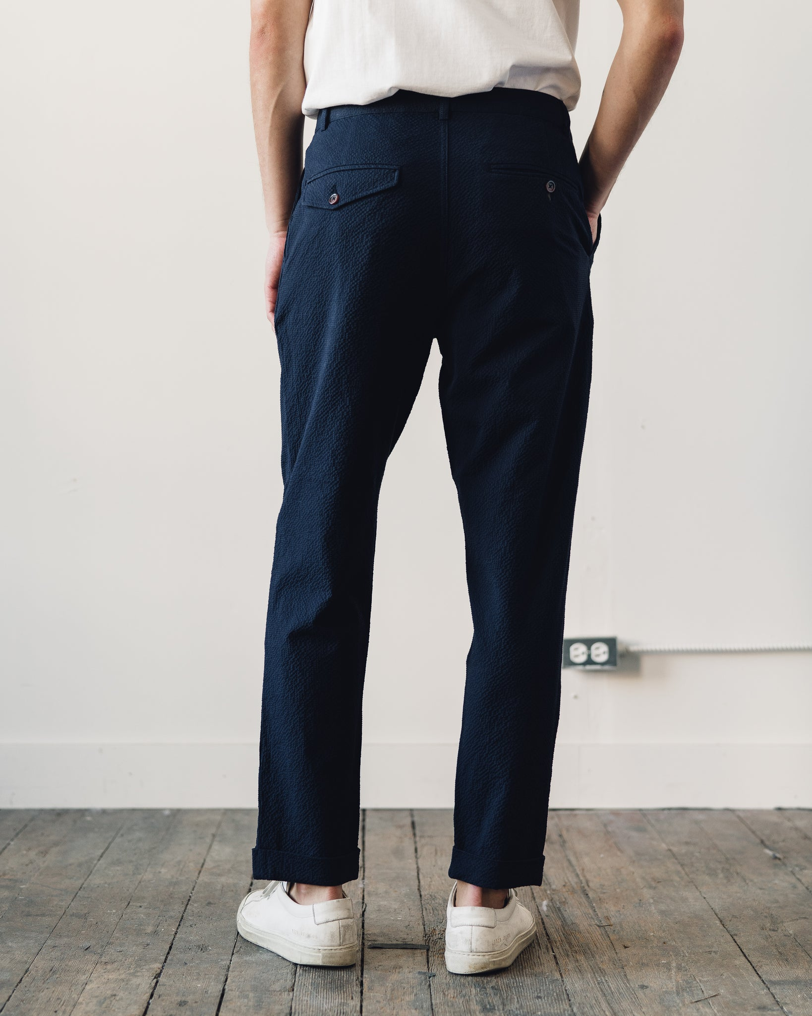 Universal Works Pleated Pant, Navy