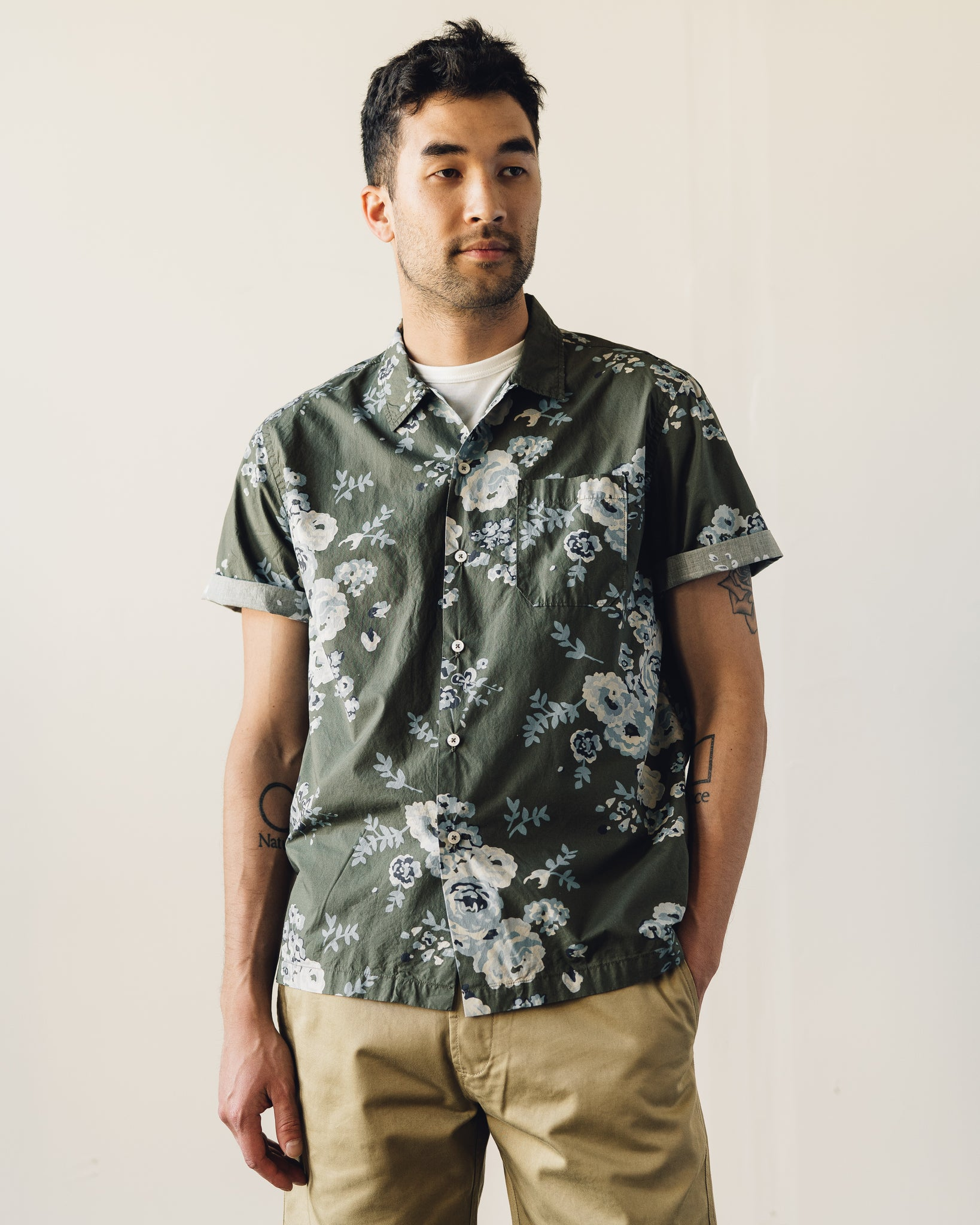 Universal Works Road Shirt, Olive