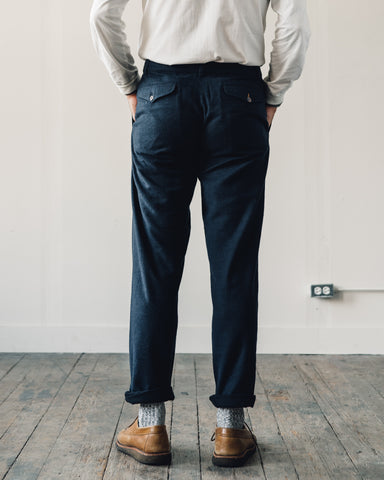 Universal Works Wool Aston Pant, Navy