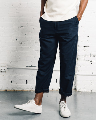 Universal Works Wool Loose Pant, Navy