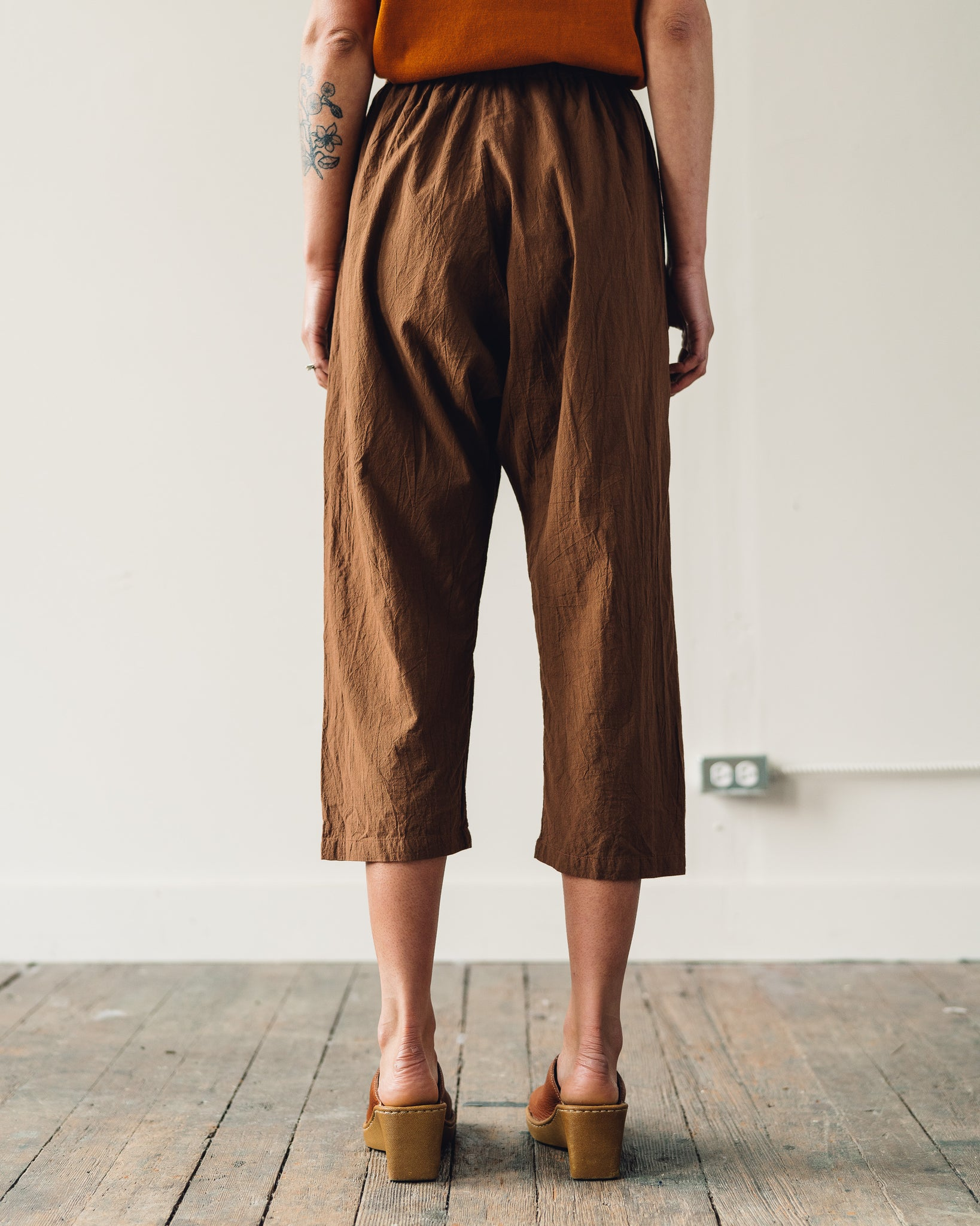 Uzi Drop-Crotch Pants, Brown
