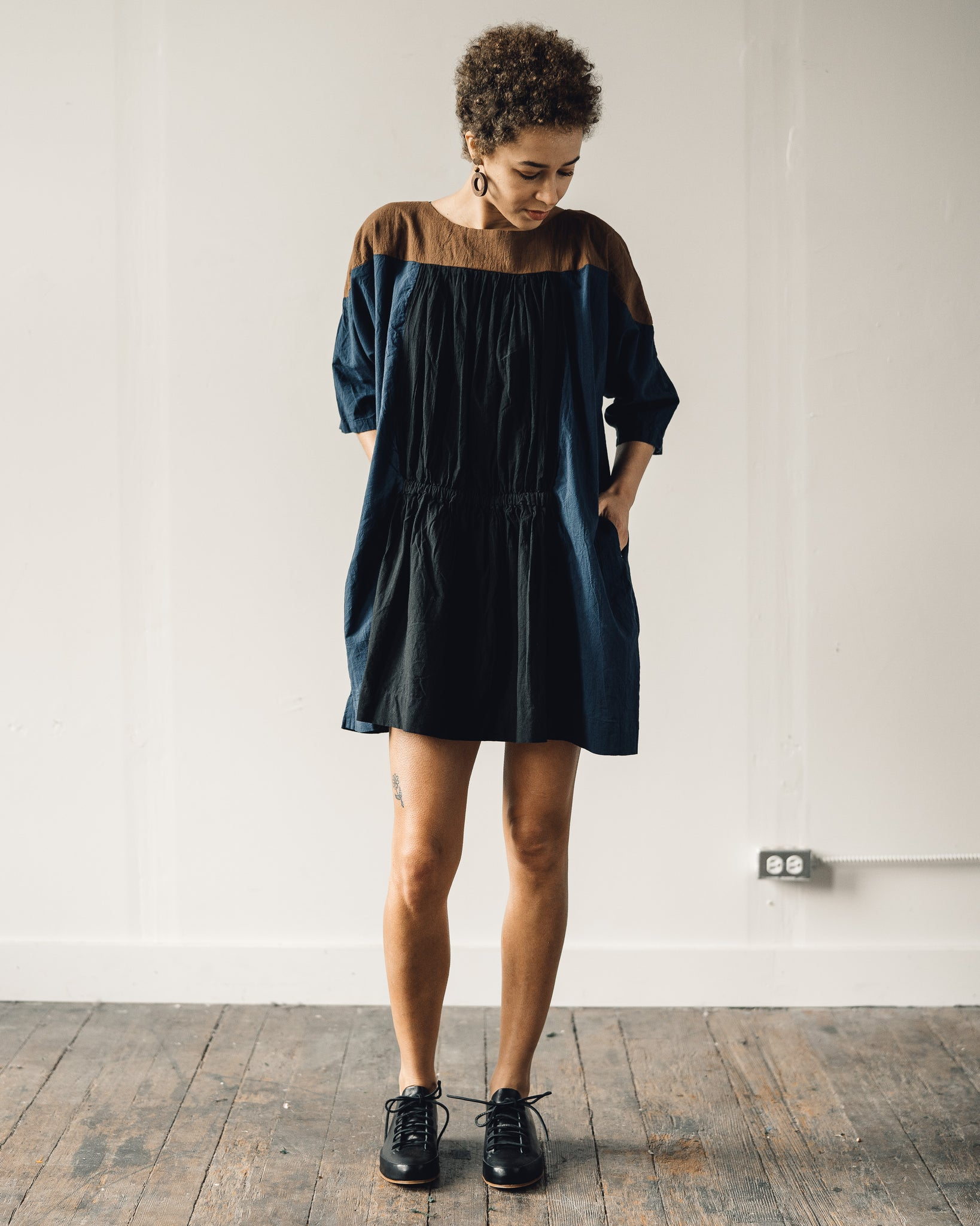 Uzi Party Dress, Navy