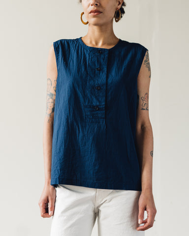 Uzi Placket Top, Navy