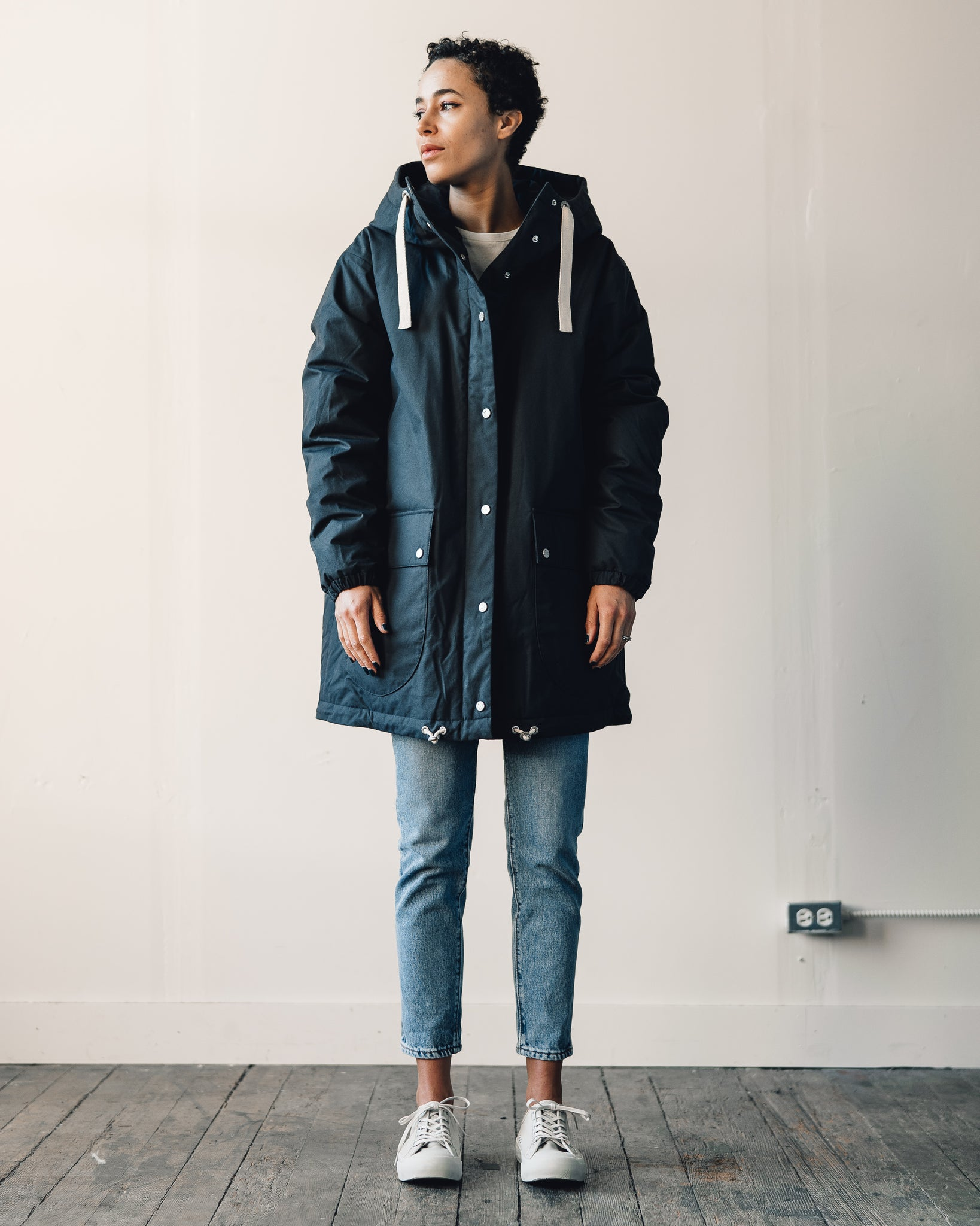 W'menswear Moon Parka, Dark Grey