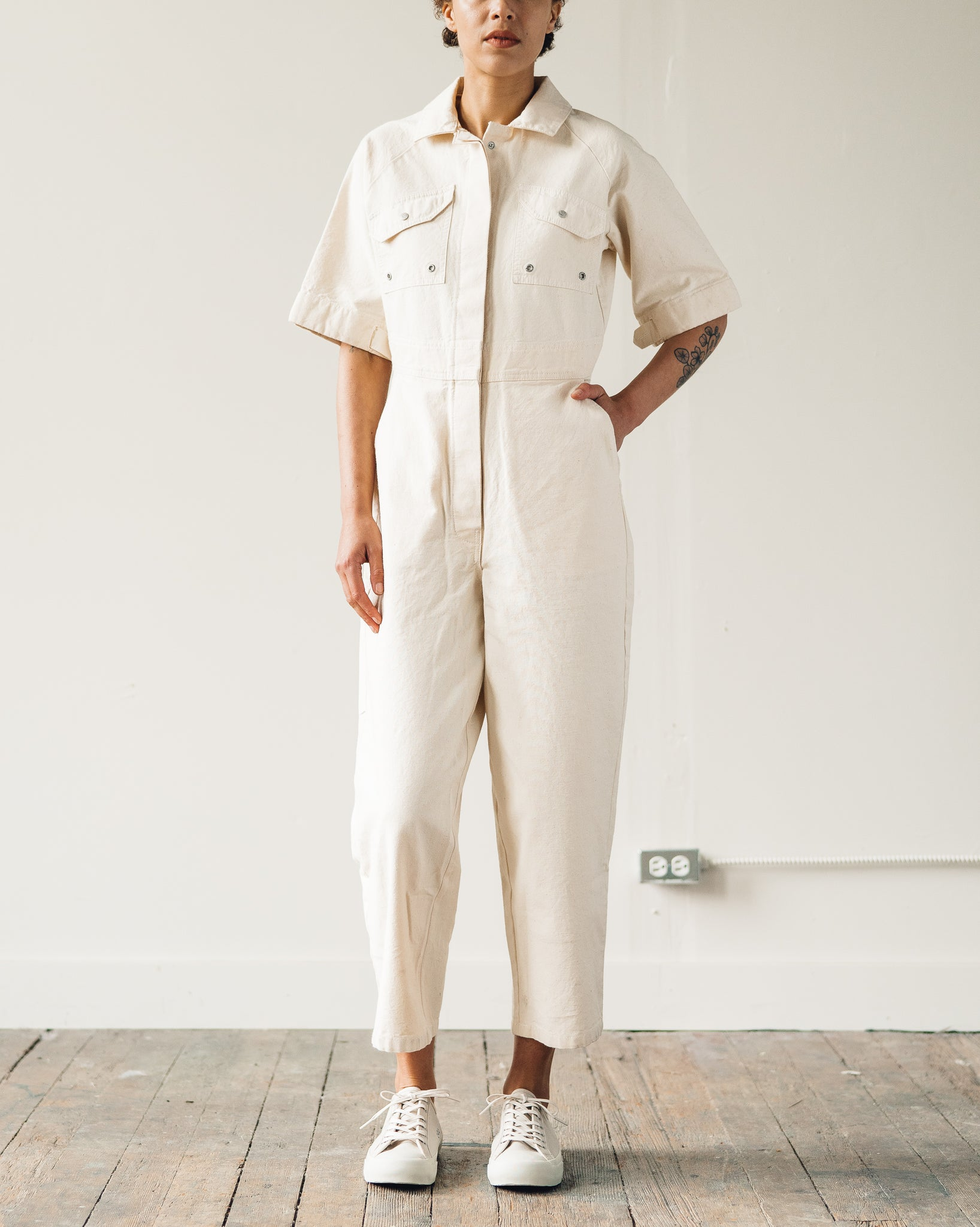 W'menswear Tropical Fieldwork Suit, Off-White