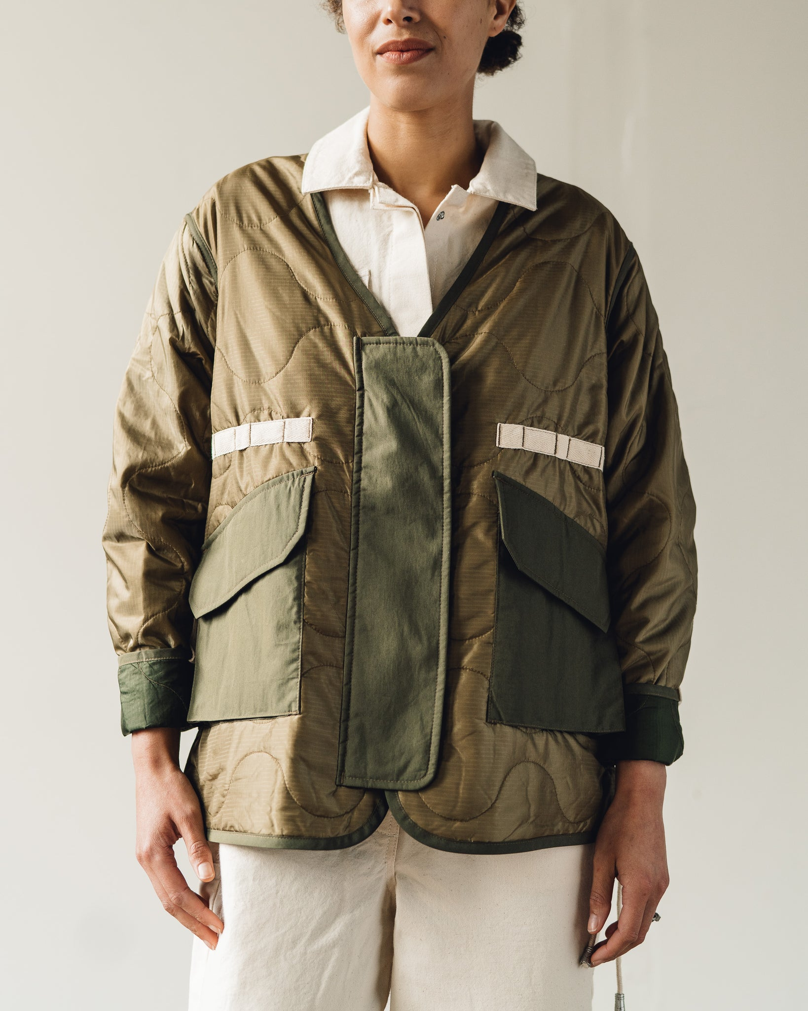 W'menswear Tropical Flight Jacket, Beige