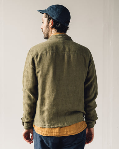 You Must Create Bowie Zip Shirt, Olive