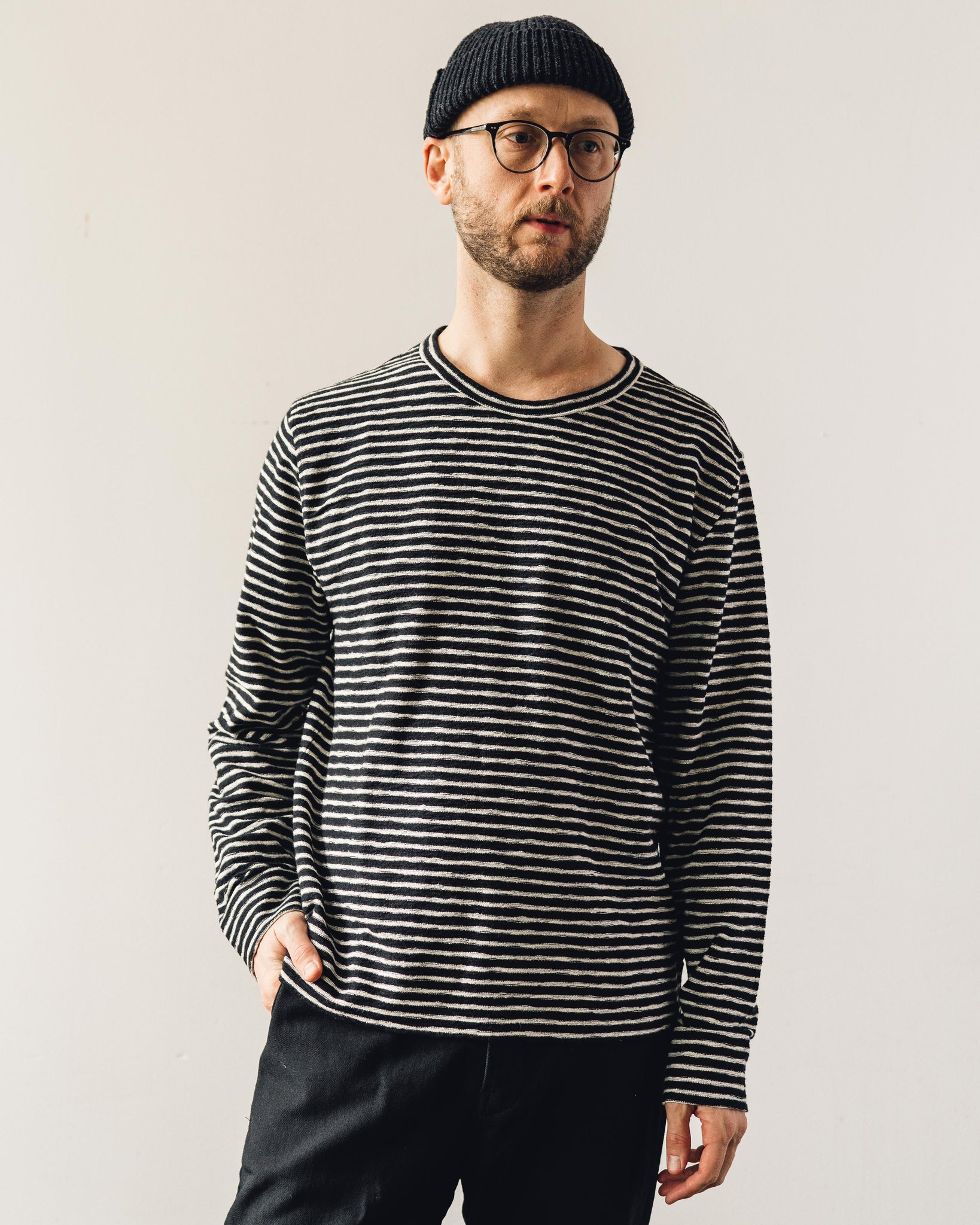 YMC X-Sweat, Black Stripe