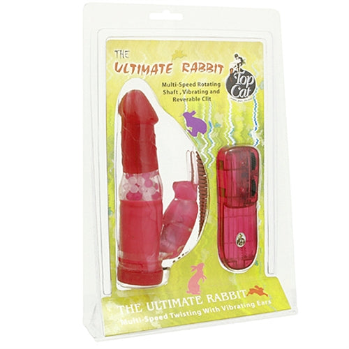 Bunny Pearl Vibrator - Red