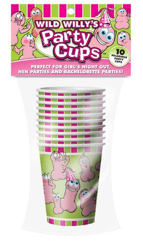 Wild Willy's Party Cups - 10 Count