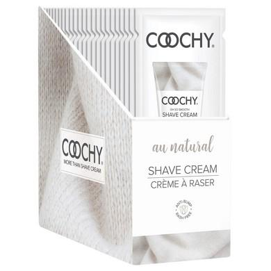 Coochy Shave Cream - Au Natural - 15 Ml Foils  24 Count