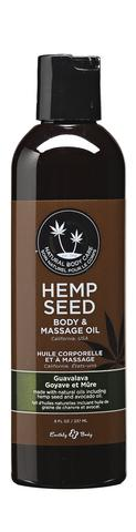 Guavalava Hemp Seed Body And Massage Oil 8 oz.