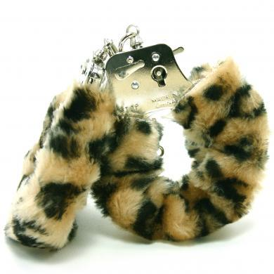 Plush Love Cuffs - Leopard