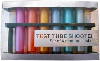 Test Tubes Shooters - Metallic  Colored