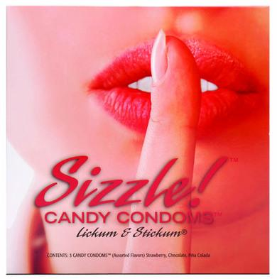 Sizzle Candy Condoms - 3 Pack