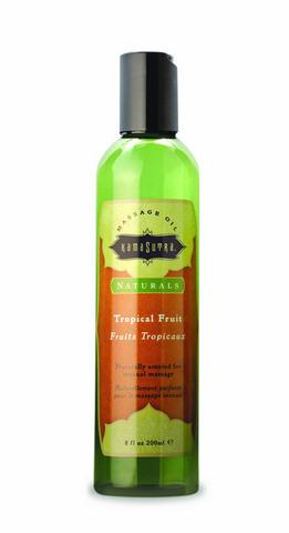 Tropical Fruits Naturals Massage Oil - 8 oz.